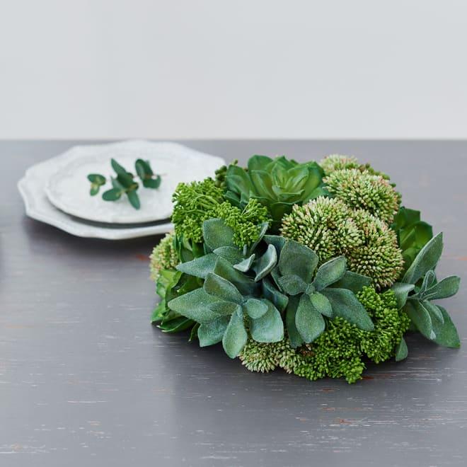 インテリアグリーン 多肉デコ リアルなのに長く使える多肉のインテリアグリーン
