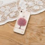 押し花スマートフォンケース(桜) 写真