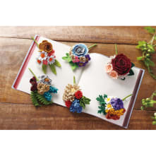 心はなやぐシックカラーのお花コサージュコレクション 1ヶ月2、322円(税込)×6回