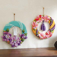 【毎月届く 手づくり頒布会】雅やかに飾る季節のお花リースコレクション(2019年4月~2019年9月)
