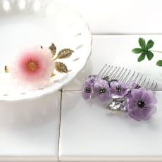 【毎月届く 手づくり頒布会】ふんわり色めくお花のプラバンアクセサリーコレクション(2019年4月~2019年9月)