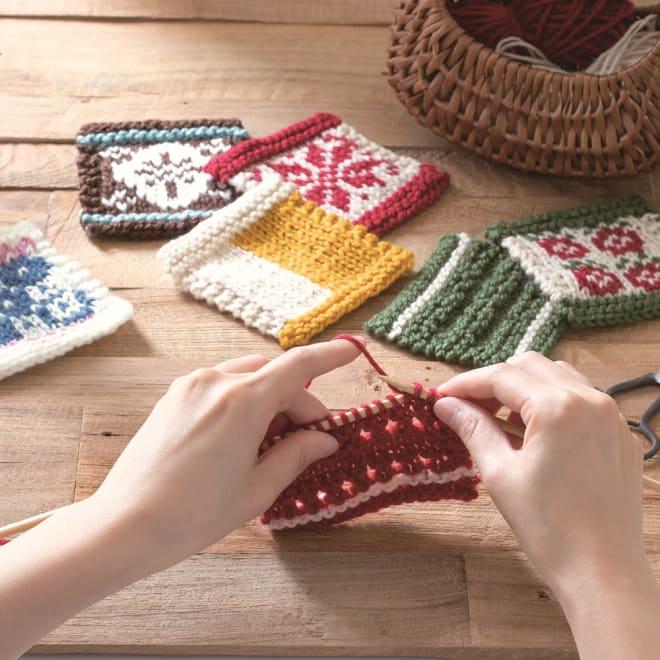 【毎月届く 手づくり頒布会】編み模様を楽しむ初めての棒針編みコレクション(2019年10月~2020年3月) 棒針編みを基礎から楽しくステップアップ