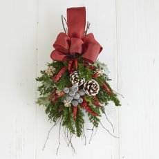 ドライ素材のスワッグ「クリスマス」