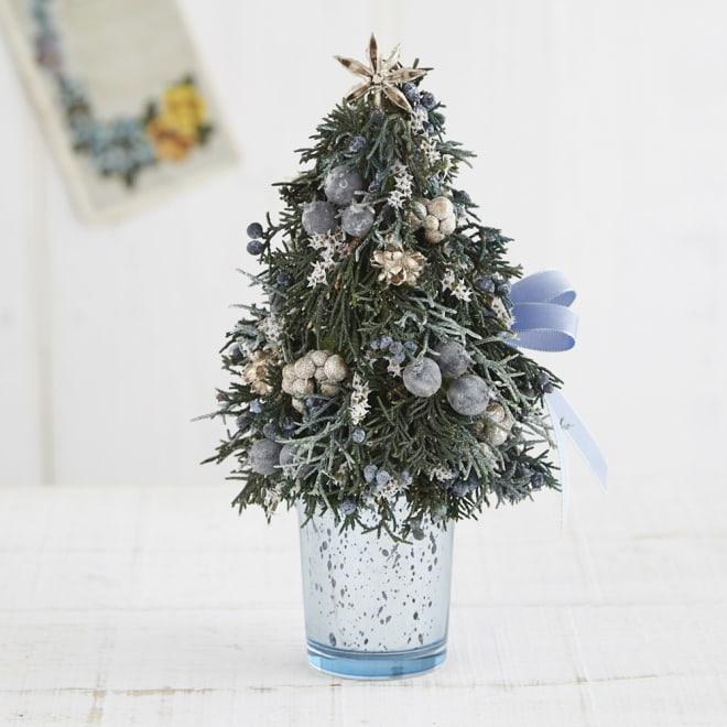 ドライ素材のテーブルツリー「ブルークリスマス」
