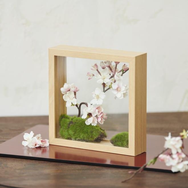 インテリアフレームフラワー 桜の庭園 フレームに入った小さな春のガーデン