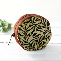 【毎月届く 手づくり頒布会】ウィリアム・モリスの柄を楽しむ素敵なポーチコース 【7月 ウィローボウのまんまるポーチ】モリスが好んだ柳の木をモチーフにデザインされた壁紙が始まり。
