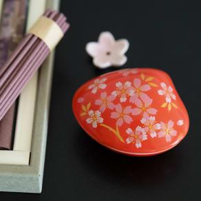 4種の桜のお香&貝の香皿 セット 写真