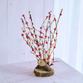 飛騨伝統の紅白餅花飾り 写真