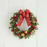 ドライ素材のクリスマスリース「木の実のリース」 写真
