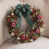 ドライ素材のクリスマスリース「フォレストリース」 写真