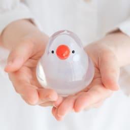 小鳥のインテリア「わたしの家族」 しっかりと質感と手に馴染む大きさも人気の秘訣