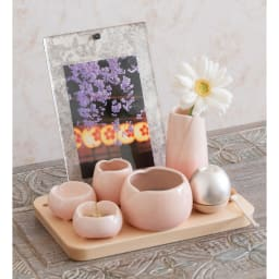 手元供養セット「やわらぎ 桜」 台座(ピクスタル)に載せることも可能です (※おりんは付属しません)