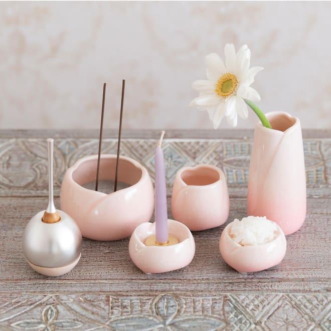 手元供養セット「やわらぎ 桜」 優しい色合いの手元供養セット ※おりん、生花、ろうそく、ご飯,は付属しません