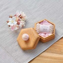 Cohana さくらの手まりの六角小箱 春限定のさくら尽くしのセット ※桜の造花は撮影小物です