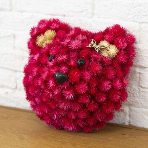 手作りリースキット「ピンクのくまさん」 写真