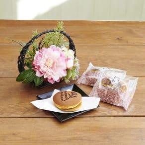 【母の日ギフト】「ありがとう」みつ豆 どら焼き&CT触媒アレンジ「和み」 写真