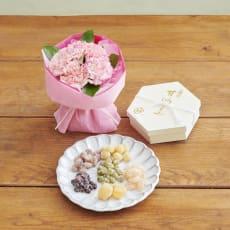 【母の日ギフト】「銀座鈴屋」華やぎ甘納豆&そのまま飾れるマザーズブーケ