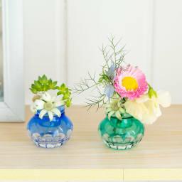 Cohana 小樽切子のピンクッション フェルトを外し、花器としての使用も!