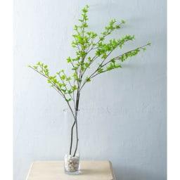 クリア ロングガラス製ベース(花瓶) 重みのある石を入れてアーティフィシャルグリーンを飾っても◎