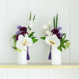 PRIMA ホワイト系胡蝶蘭入り コンパクトアレンジ供花 1対でお飾りする場合は、(ア)、(イ)それぞれお買い求めください