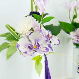 PRIMAパープル系胡蝶蘭入供花アレンジ