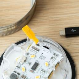 SONNENGLAS(ソネングラス) クラシック アレンジ パネルの内側にUSBで充電できるパネルも