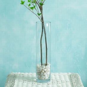 クリア ロングガラス製ベース(花瓶) 写真