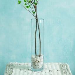 クリア ロングガラス製ベース(花瓶) シンプルなガラスベースです(花瓶のみで石や花材は付属しません)