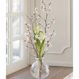 山形からの春便り啓翁桜8本(ミドル) 分けたお花は、別のお花と一緒に活ければ一層春らしく