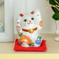 九谷焼 花づくし 両手招き猫 セット