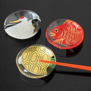 豆皿 めでたmono 鶴亀鯛セット 写真
