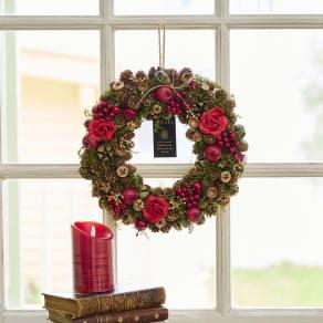 自然素材リース「ローズクリスマス」 写真