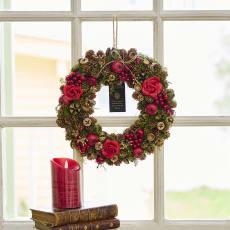 自然素材リース「ローズクリスマス」