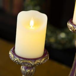 キャンドル キャンドルホルダー 置物 雑貨 インテリア LED ライト LEDキャンドル アンティーク リアル感のあるLEDキャンドル