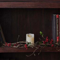 キャンドル キャンドルホルダー 置物 雑貨 インテリア LED ライト LEDキャンドル アンティーク キャンドルは単品でほかの場所に飾って通年楽しめます