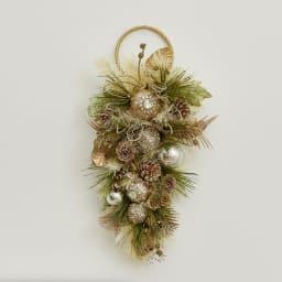 スワッグ アーティフィシャルグリーン クリスマス インテリア 飾り 壁飾り 雑貨 オーナメント お部屋がパッと明るくなるスワッグです