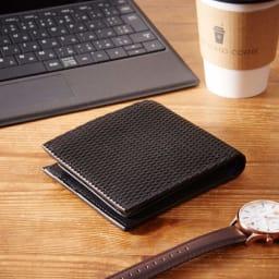 ダコタ イタリアンレザー二つ折り財布 (ア)ブラック