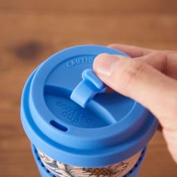 Ecoffee Cup/エコーヒーカップ 容量400ml ウィリアム・モリス柄 1個 (エ) Lily 飲み口はこぼれ防止用ストッパー付き