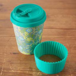 Ecoffee Cup/エコーヒーカップ 容量355ml ウィリアム・モリス柄 1個 ホルダーも蓋も取り外し可能 (ウ)Seaweed Marine