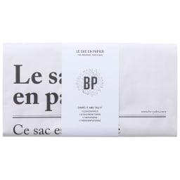 BE-POLES PAPER BAG(ビーポール/ペーパーバッグM) 帯がついたお洒落な見た目で、ちょっとしたプチギフトにもおすすめです。