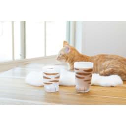 coconecoグラス(子猫) (イ)トラ (ア)ミケ ※右の商品は、親猫グラス(申込番号GF0145)です。