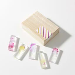 TOUMEI 箸置きセット 押し花 カーネーション 裏面 ※パッケージのシールデザインは変更になる場合がございます