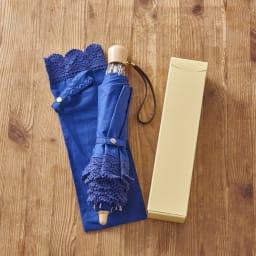 前原光榮商店 折りたたみ日傘 (ア)ネイビー パッケージに入れてお届けします。※パッケージのデザインは変更する場合がございます