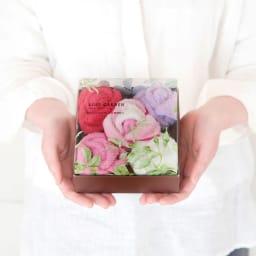 HIBIYA-KADAN×東京西川 ローズガーデン フラワータオル 5個入り ピンク系