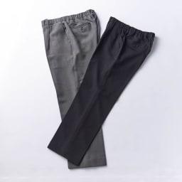 カインドケア/腰総ゴムくつろ着スラックス 紳士用 ブラック、グレーの2色展開