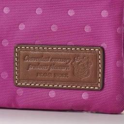 FRAME WORK お財布ポシェット 縁取りには本革を使用したきちんとした作り