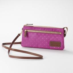 FRAME WORK お財布ポシェット (ウ)パープル<br />※カラー名はパープルですがピンクよりのパープル系です