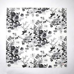 朝倉染布 濡れない撥水ふろしき 雪月花「花」 サイズ:約96×96cm