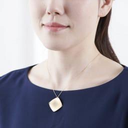 K18ネックレスチェーン45cm 着用例 ※ヘッドは商品に含まれません。