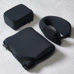BANALE(バナーレ) ミニピロー BANALE(バナーレ)シリーズ商品 左奥:当商品、手前は、GF0654オムニピロー、右のネックピローは販売しておりません